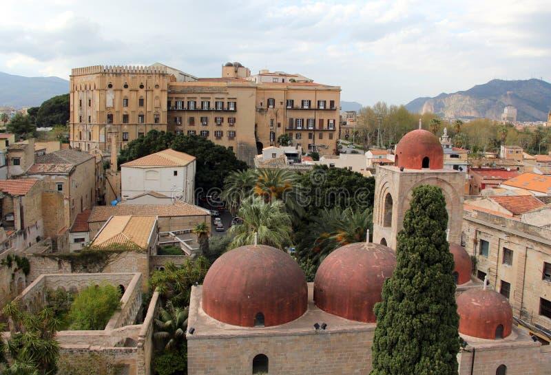 Deglieremiti van San Giovanni, Palermo stock foto