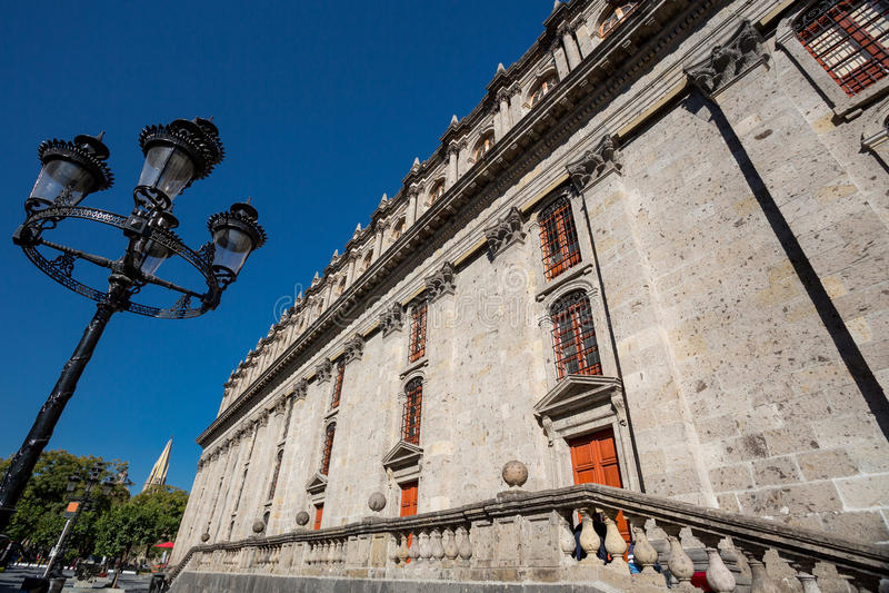 Degollado剧院,瓜达拉哈拉,墨西哥 免版税库存图片