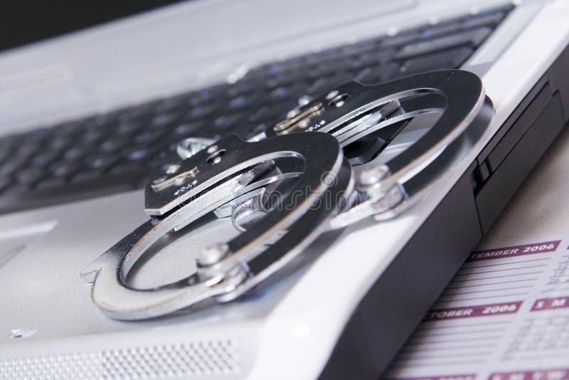 Degré de sécurité d'ordinateur photo libre de droits