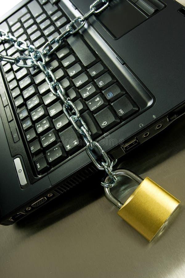 Degré de sécurité d'ordinateur images libres de droits