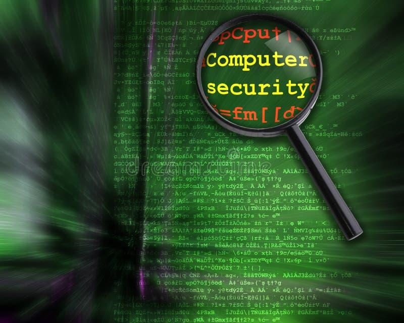 Degré de sécurité d'ordinateur illustration libre de droits