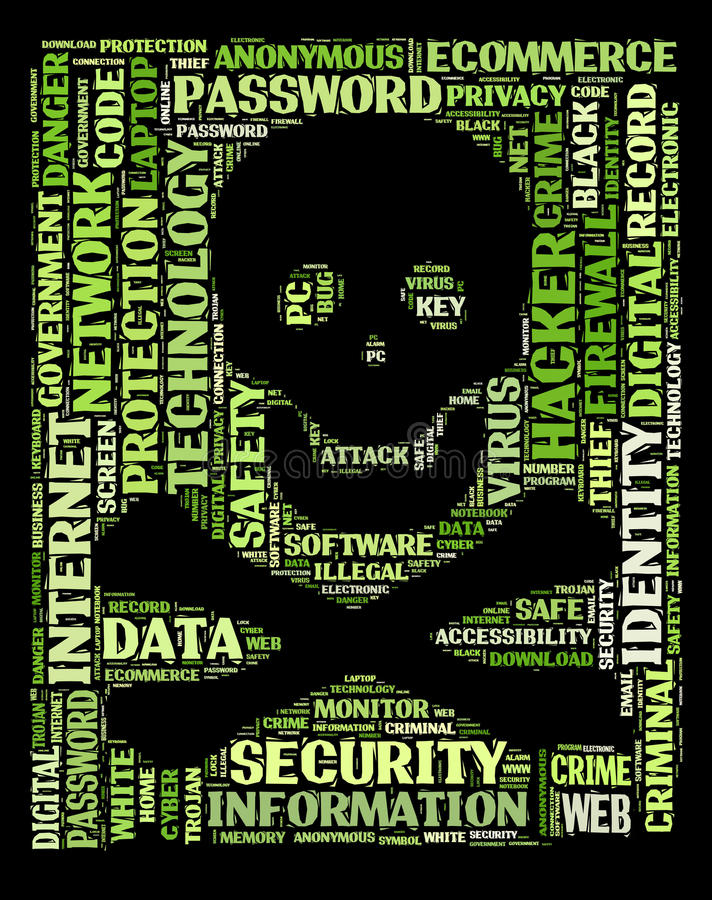 Degré de sécurité d'ordinateur, intrus illustration de vecteur