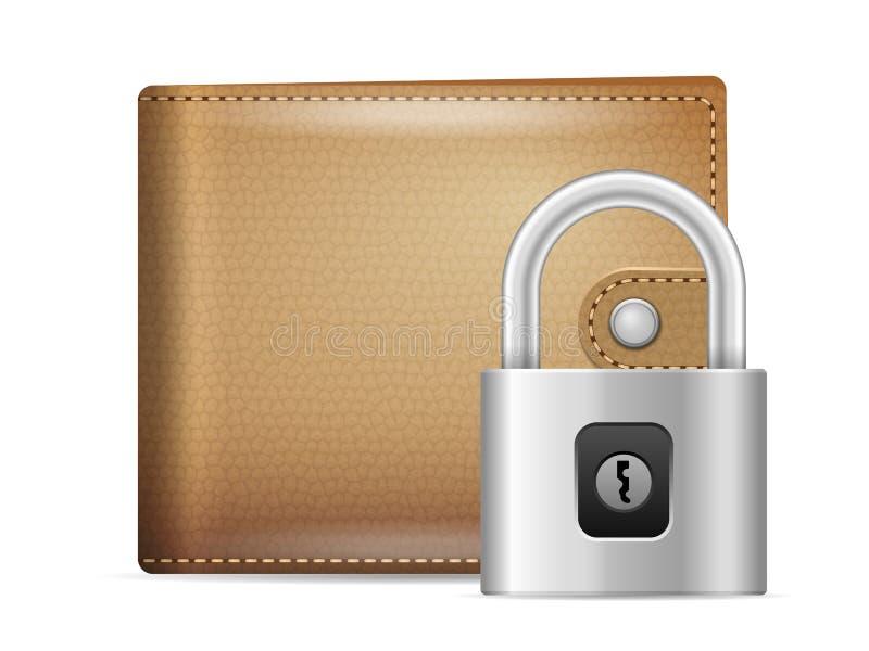 Degré de sécurité de portefeuille illustration stock