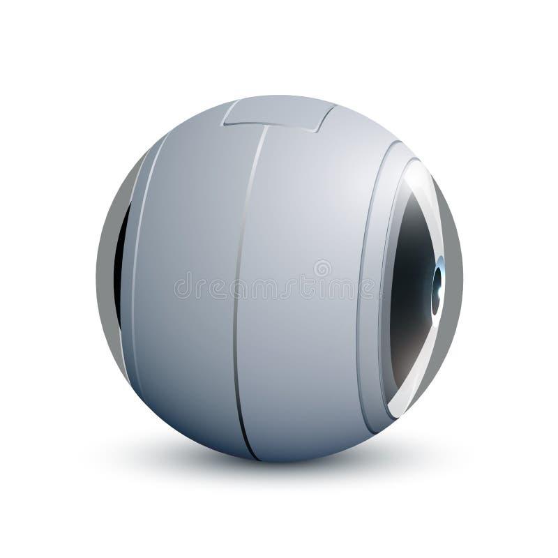 360 degrés d'appareil-photo Appareil-photo de vidéo ou de photo pour des panoramas de tir avec deux lentilles illustration libre de droits