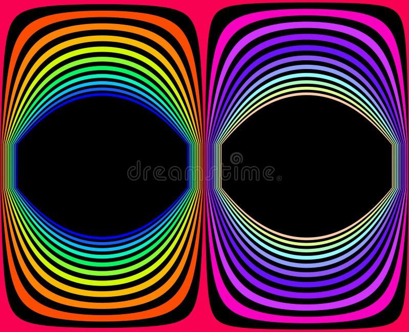 360 degrés de panorama sphérique de coloré abstrait, renderin 3D illustration de vecteur