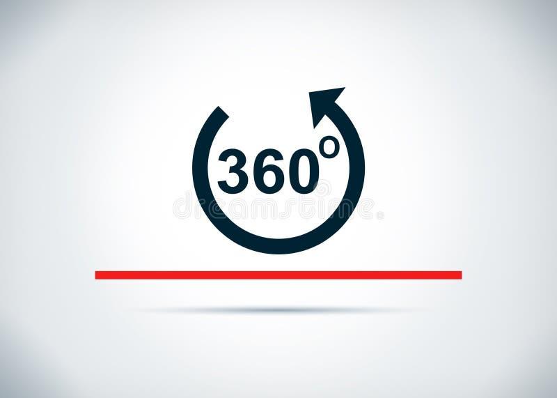 360 degrés tournent l'illustration plate de conception de fond d'abrégé sur icône de flèche illustration stock