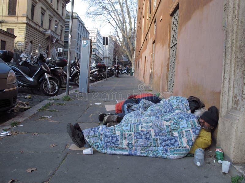 Degradação urbana em Roma, Itália fotografia de stock