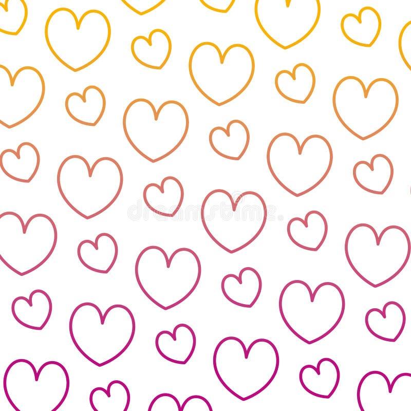 Degraded line beauty heart romance symbol background. Vector illustration vector illustration
