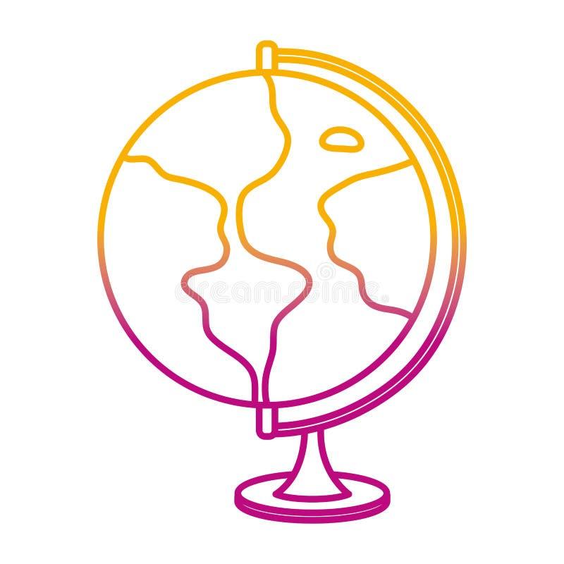 Degraded line global earth planet map desk stock illustration