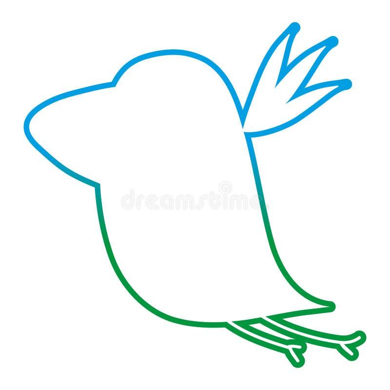 Degraded line silhouette nice bird fauna animal royalty free illustration