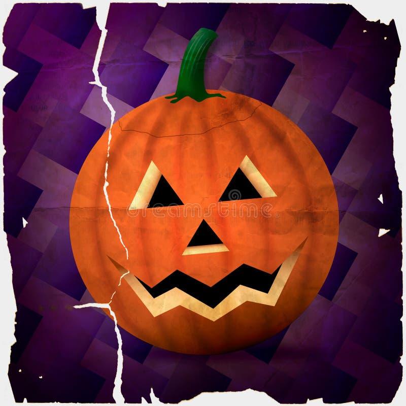 degraderad halloween pumpa royaltyfri illustrationer