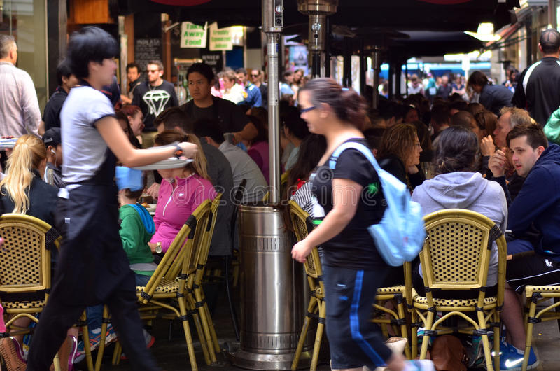Degraves-Straße - Melbourne lizenzfreies stockfoto