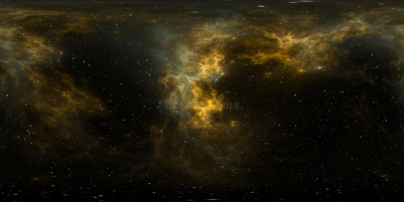 360 degree giant nebula after a supernova explosion, equirectangular projection, environment map. HDRI spherical panorama stock photo