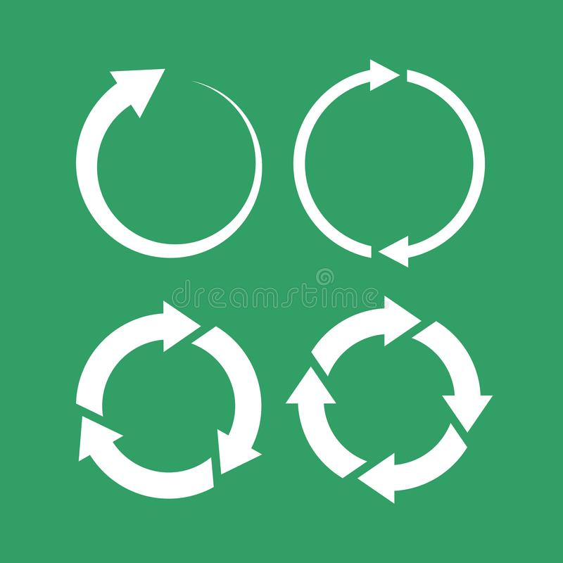 360 degree loop arrow icon royalty free illustration