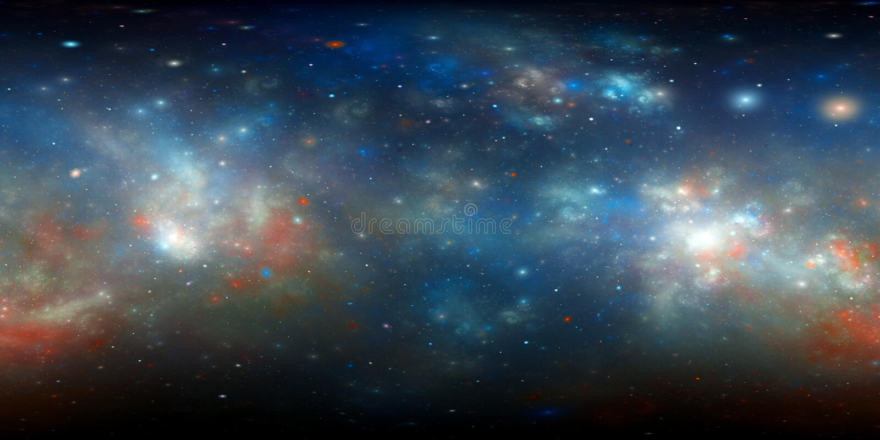 360 degree nebula panorama fractal vector illustration