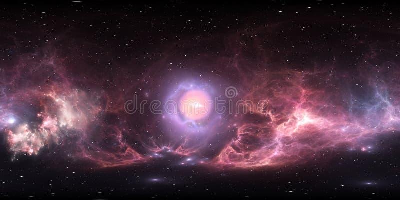 Deep Space Stars And Nebula 360 Degree Panorama Stock