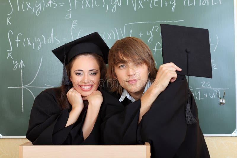 Degree students royalty free stock photo
