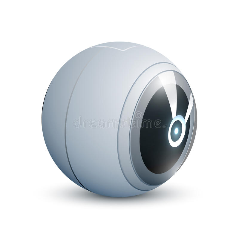 360 degrees camera. Video or photo camera for shooting panoramas with two lenses. vector illustration