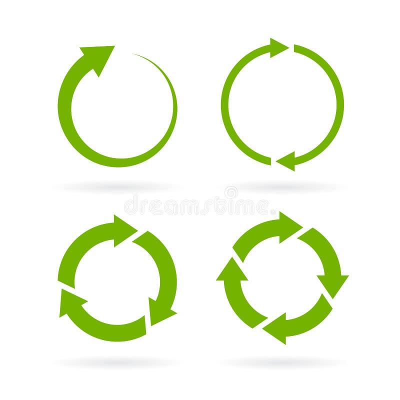 360 degree cycle vector arrow royalty free illustration