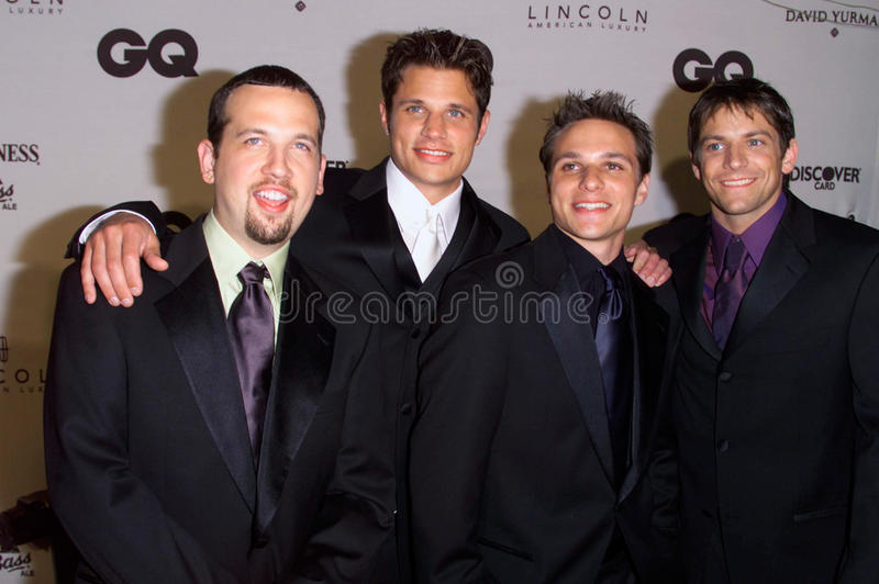 98 Degrees. Pop group 98 DEGREES at GQ Magazine's 5th Annual Men of the Year Awards in New York. 26OCT2000. Paul Smith / Featureflash royalty free stock image