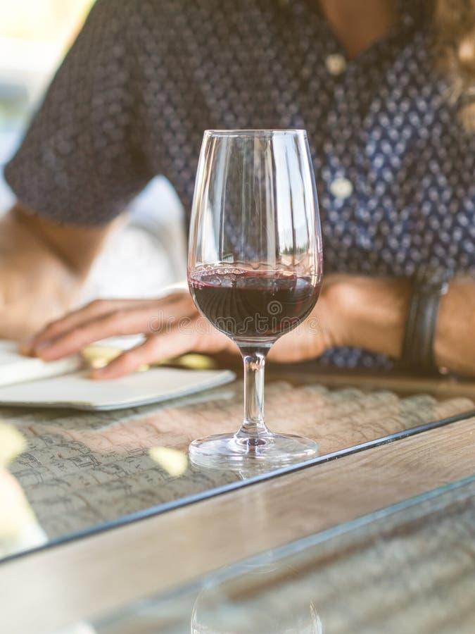Degustação de vinhos em Quinta de Alcube na região de Setubal, Portugal fotografia de stock royalty free