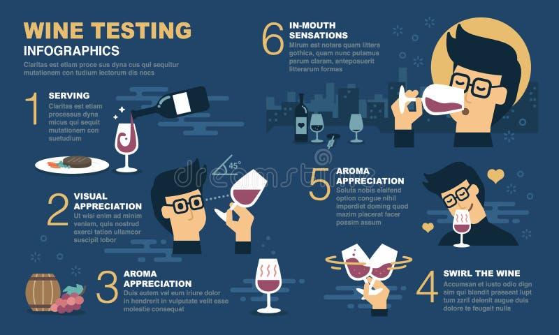 Degustação de vinhos Infographic ilustração do vetor