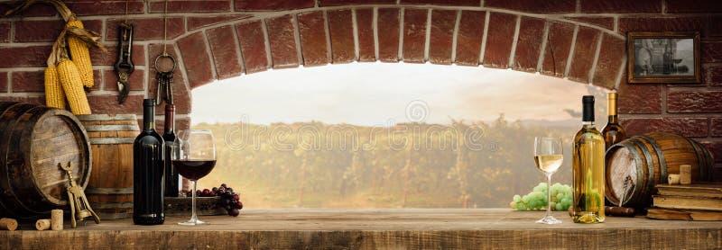 Degustação de vinhos na adega imagens de stock