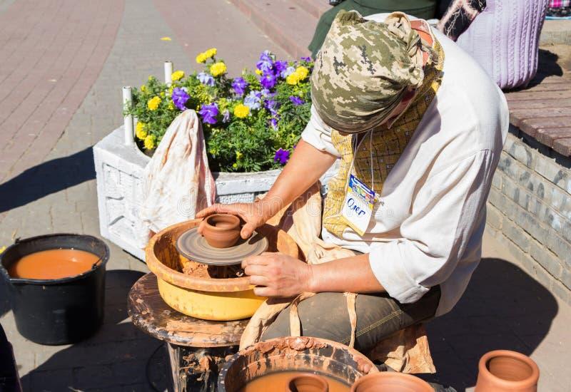 Dehors atelier de poterie photo stock