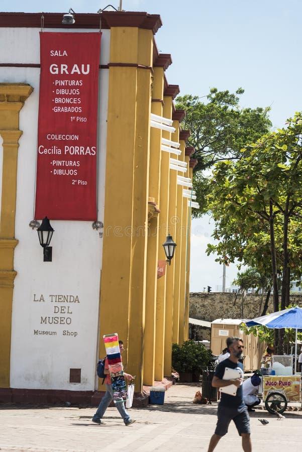 Dehors d'Arte Moderno Museo De Arte Moderno Carthagène images libres de droits