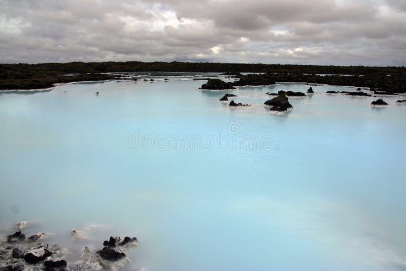 Dehors de la lagune bleue, l'Islande photos libres de droits