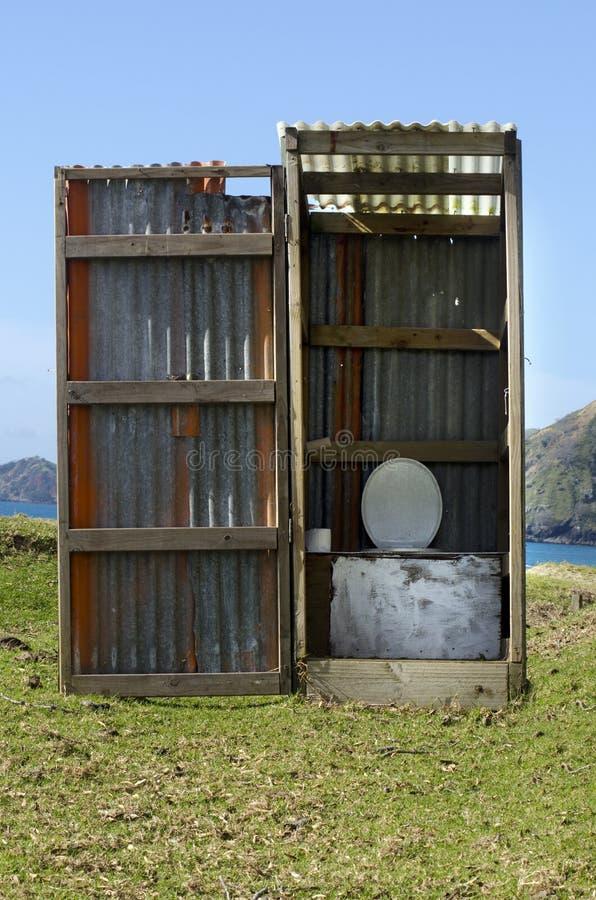 Dehors toilette photo stock