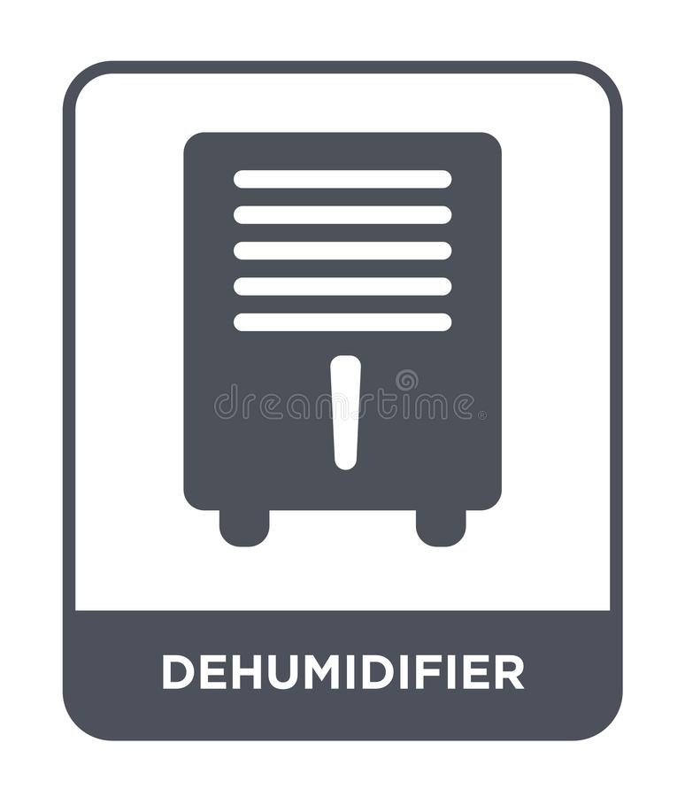 Dehumidifier icon in trendy design style. dehumidifier icon isolated on white background. dehumidifier vector icon simple and. Modern flat symbol for web site vector illustration