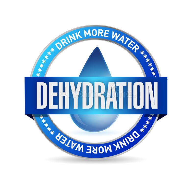 Dehydration stamp illustration design. Over a white background vector illustration