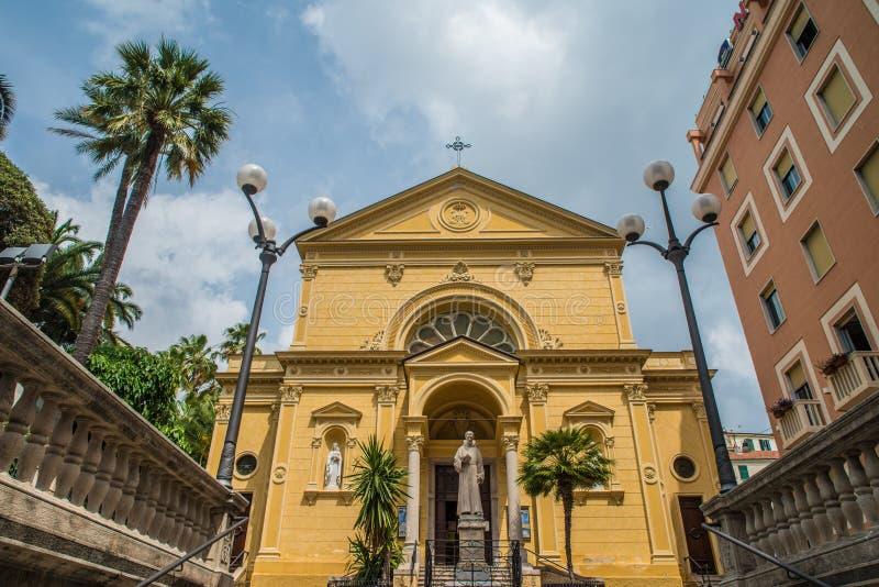 Dei Cappuccini, iglesia de Chiesa en San Remo, Italia imagen de archivo libre de regalías