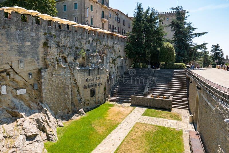 Dei cave célèbre Balestrieri dans République de Saint-Marin, utilisé pour des sports, en particulier l'arbalète italienne photo stock