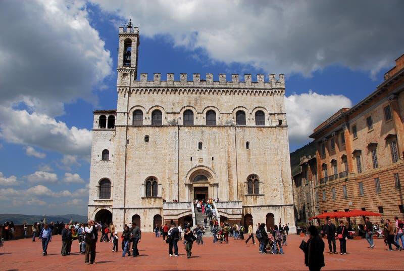 Dei Consoli de Palazzo em Gubbio, Itália fotografia de stock royalty free