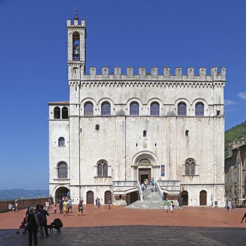 Dei Consoli Palazzo в Gubbio, Италии стоковое изображение rf