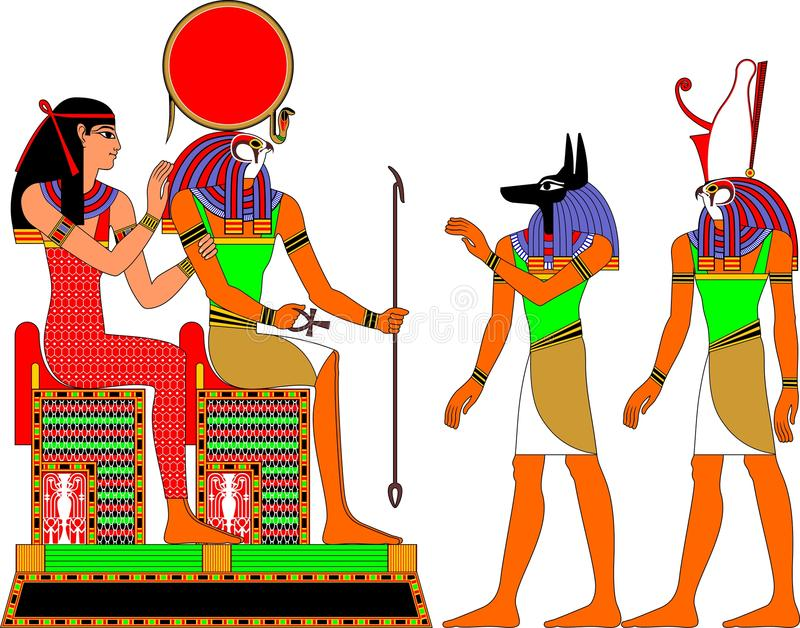 Dei dell'Egitto illustrazione di stock