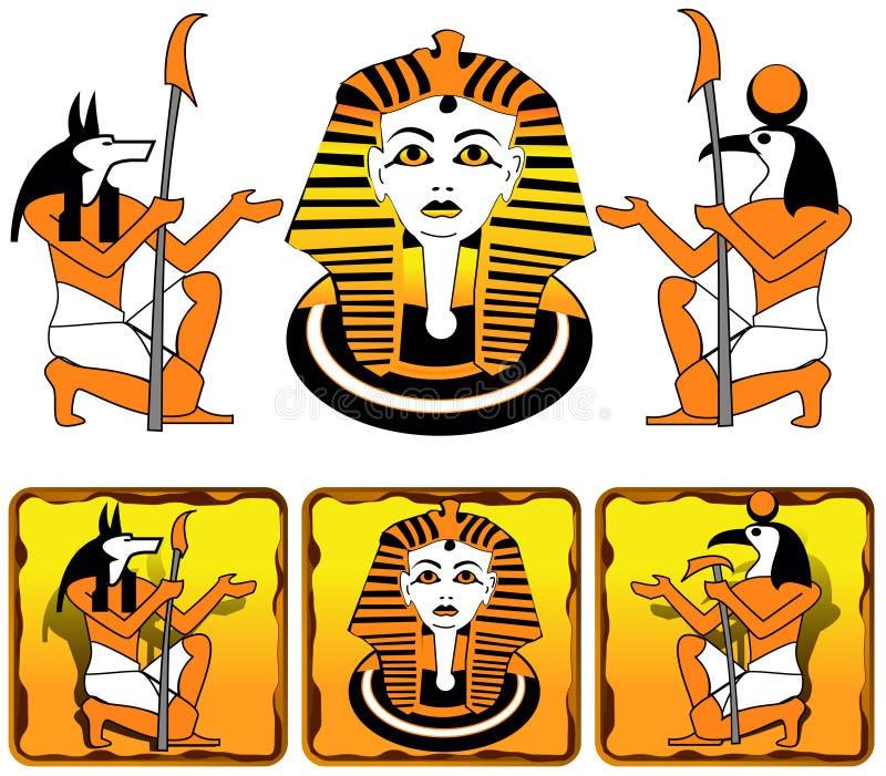 Dei dell'Egiziano delle mattonelle royalty illustrazione gratis