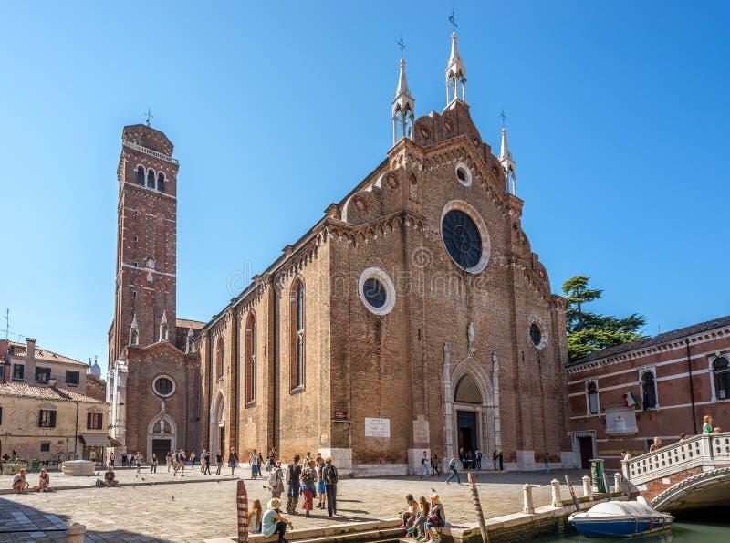 Dei Frari de Santa Maria Gloriosa da basílica fotos de stock royalty free