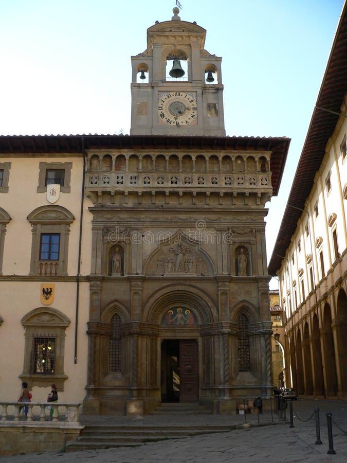 Dei Laici, Arezzo van Fraternita van della van Palazzo (Italië). stock afbeelding