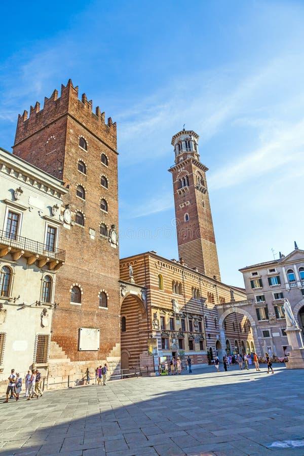 Dei Lamberti de Torre dans le delle de Piazza image stock