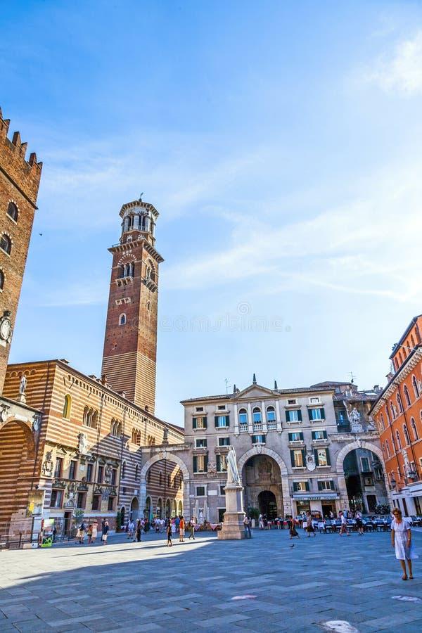 Dei Lamberti de Torre dans le delle de Piazza photo libre de droits