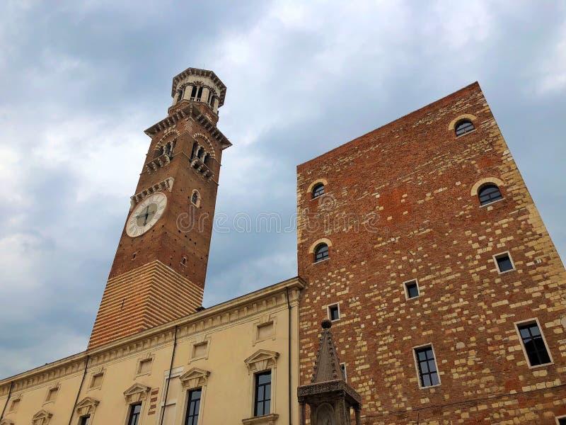 Dei Lamberti, Verona, Italia di Torre fotografia stock libera da diritti