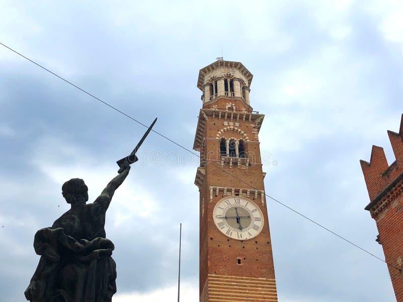 Dei Lamberti, Verona, Italia di Torre immagine stock libera da diritti