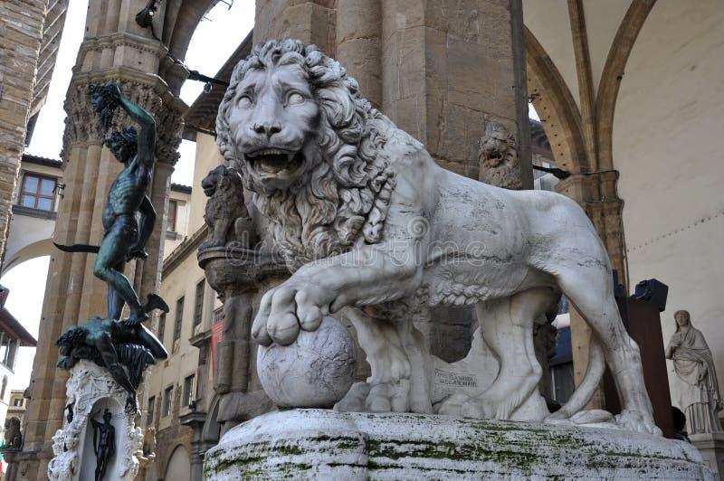 Dei Lanzi лоджии в Флоренсе стоковые фотографии rf