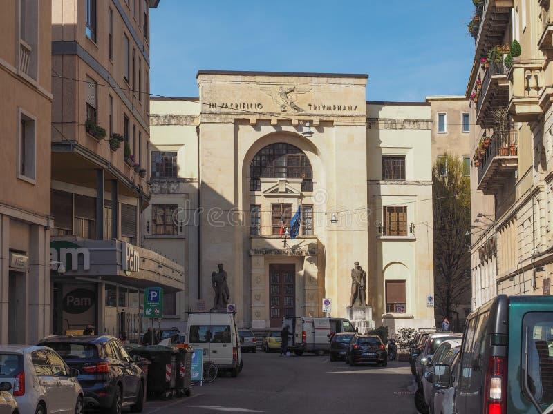 Dei Mutilati Palazzo (σπίτι ακρωτηριασμένος) στη Βερόνα στοκ εικόνα με δικαίωμα ελεύθερης χρήσης