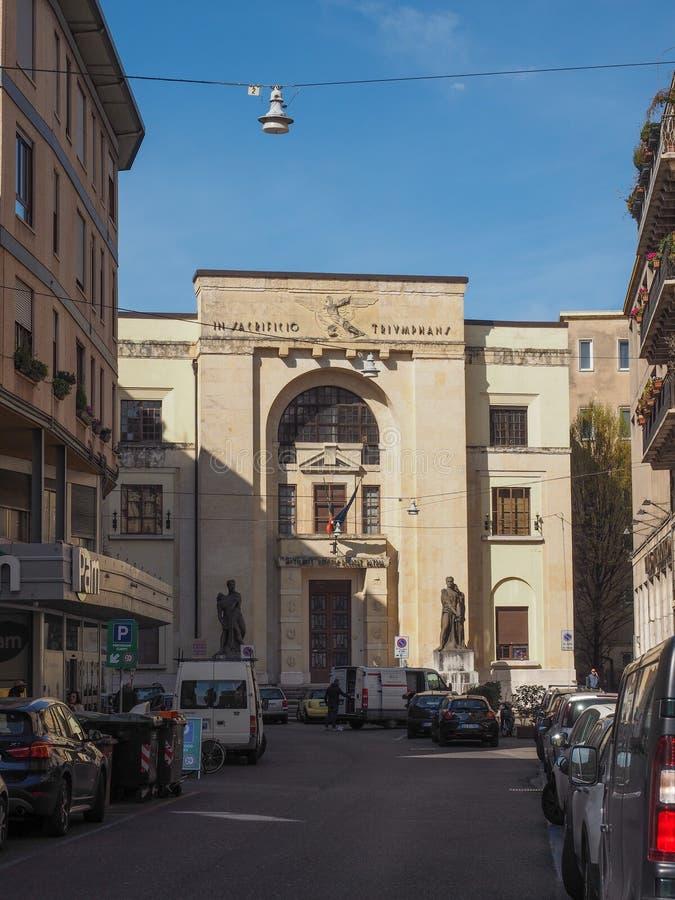 Dei Mutilati Palazzo (σπίτι ακρωτηριασμένος) στη Βερόνα στοκ φωτογραφία με δικαίωμα ελεύθερης χρήσης