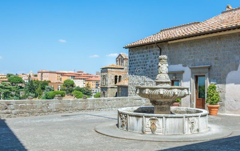 Dei Papi nel distretto di Pellegrino del san, Viterbo, Lazio Italia di Palazzo fotografie stock