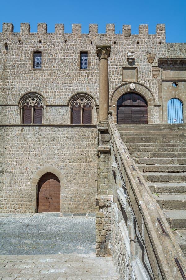 Dei Papi nel distretto di Pellegrino del san, Viterbo, Lazio Italia di Palazzo fotografia stock